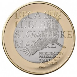ESLOVENIA 3 EUROS 2019 REGION DE PREKMURJE 1000 ANIVERSARIO moneda BIMETALICA SC Slovenia coin