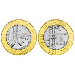 .FINNLAND 5 EURO 2003 HOCKEY BIMETALLIC UNC @RARE@