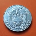 PANAMA 1/2 BALBOA 1968 BUSTO DE BALBOA KM.12.A.1 MONEDA DE PLATA EBC+ Medio Balboa 1968 SILVER COIN