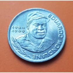 CABO VERDE 10 ESCUDOS 1977 EDUARDO MONDLANE KM.18 MONEDA DE NICKEL EBC Portugal CAPE VERDE