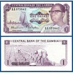 GAMBIA 1 DALASI 1971 BARCO DE PESCADORES y PRESIDENTE Firma 9 Pick 4G BILLETE SC Africa BANKNOTE UNC