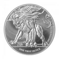 @1 ONZA 2019@ NIUE 2 DOLARES 2019 LEON RUGIENTE MONEDA DE PLATA SC silver OZ OUNCE ROARING LION
