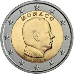 MONACO 2 EUROS 2017 REY ALBERTO II SIN CIRCULAR MONEDA CONMEMORATIVA @ESCASA@