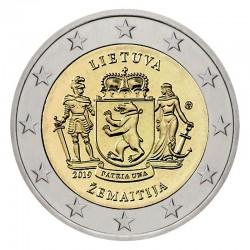LITUANIA 2 EUROS 2019 Región de SAMOGITIA 2ª MONEDA CONMEMORATIVA SC 2€ coin TIRADA CORTA
