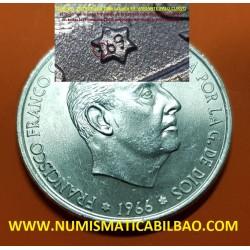 @RARA@ ESPAÑA 100 PESETAS 1966 * 19 69 PALO CURVO FRANCISCO FRANCO MONEDA DE PLATA SIN CIRCULAR SC 100% ORIGINAL