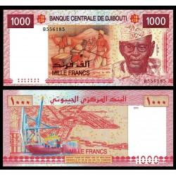 DJIBOUTI 1000 FRANCOS 2005 BARCOS EN PUERTO, TRABAJADORES y CAMELLOS Pick 42 BILLETE SC 1000 Francs Yibuti UNC BANKNOTE