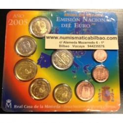 ESPAÑA CARTERA FNMT EURO 2005 BU SET KMS EURO 1+2+5+10+20+50 Centimos 1+2 EUROS + 2 EUROS 2005 QUIJOTE