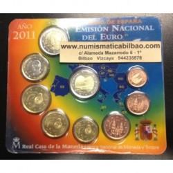 ESPAÑA CARTERA FNMT EUROS 2011 BU SET KMS 2 EURO ALHAMBRA