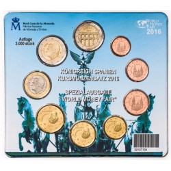 ESPAÑA CARTERA FNMT EUROS BERLIN WORLD MONEY FAIR 2016 BU SET KMS Tirada 2000 uds 2 EUROS 2016 SEGOVIA