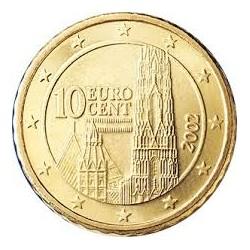 AUSTRIA 10 CENTIMOS 2009 CAMPANARIO MONEDA DE LATON SC Osterreich Euro coin Cts