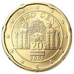 AUSTRIA 20 CENTIMOS 2004 SC MONEDA COIN Osterreich Euro Cts