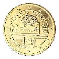AUSTRIA 50 CENTIMOS 2009 EDIFICIO DE LA SECESION MONEDA DE LATON SC MONEDA Osterreich Euro coin Cts