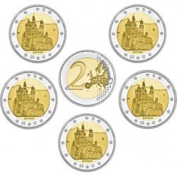 GERMANY 2 EURO 2012 ANNIVERSARY UNC A+D+F+G+J