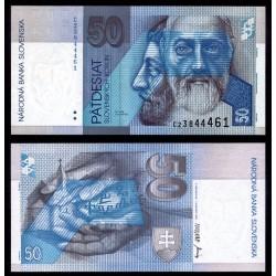 ESLOVAQUIA 50 KORUN 1993 S.V. CYRIL e IGLESIA Pick 21A BILLETE SC Slovakia UNC BANKNOTE