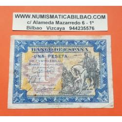 ESPAÑA 1 PESETA 1940 HERNAN CORTES A CABALLO Serie B 4293173 Pick 121 BILLETE MBC- Spain banknote