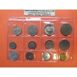 GRECIA @3 MONEDAS@ 2 + 1 DRACMAS + 50 LEPTA 1973 BUHO Y BARCO KM.108 107 106 MONEDA DE LATON EBC + Greece