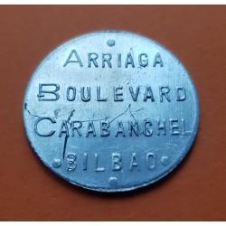 BILBAO CAFE ARRIAGA BOULEVARD 1 PESETA 1939 FICHA BAR CAFETERIA