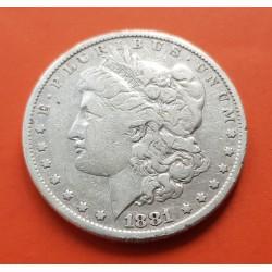 ESTADOS UNIDOS 1 DOLAR 1881 MORGAN KM.110 MONEDA DE PLATA MBC USA Silver $1 Dollar Coin 1