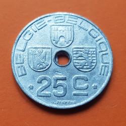 BELGICA 25 CENTIMOS 1943 BELGIE KM*132 ZINC III REICH NAZI WWII