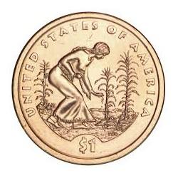 ESTADOS UNIDOS 1 DOLAR 2009 D INDIA SACAGAWEA MONEDA DE LATON SC USA $1 Dollar coin