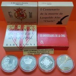 ..ESPAÑA 2000 PESETAS 1995 ONU 50 ANIVERSARIO PLATA ESTUCHE