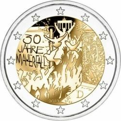 ALEMANIA 2 EUROS 2019 MURO DE BERLIN 30 AÑOS DE SU CAIDA SC 2ª MONEDA CONMEMORATIVA Germany BRD