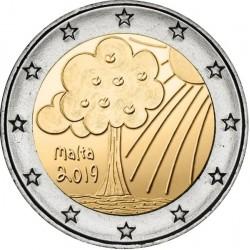 MALTA 2 EUROS 2019 ARBOL Serie NIÑOS y NATURALEZA 2ª MONEDA CONMEMORATIVA 2€ commemorative coin
