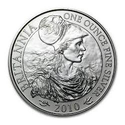 INGLATERRA 2 LIBRAS 2010 BRITANNIA MONEDA DE PLATA SC UNITED KINGDOM SILVER £2 POUNDS 1 ONZA OZ