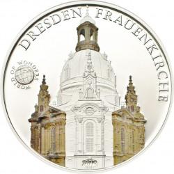 @COLORES@ PALAU 5 DOLARES 2013 CATEDRAL DE DRESDEN Serie 7 MARAVILLAS DEL MUNDO MONEDA DE PLATA PROOF silver coin
