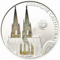 PALAU 5 DOLARES 2013 CATEDRAL DE COLONIA MONEDA DE PLATA PROOF COLOR silver coin