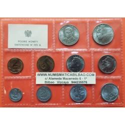 10 monedas x POLONIA 10+20+50 GROSZY y 1+2+5+ 2x10 + 2x 20 ZLOTY 1975 POLSKIE MONETY SC Polish coin Set