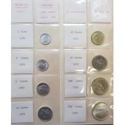 8 monedas x VATICANO 1972 PAULUS VI SC 1+2+5+10+20+50+100 LIRAS + 500 LIRAS 1972 PLATA PAPA PABLO VI