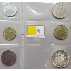 6 monedas x VATICANO 1980 JOANES PAULUS II SC 10+20+50+100+200 LIRAS + 500 LIRAS 1980 PLATA PAPA JUAN PABLO II
