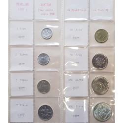 9 monedas x SAN MARINO 1977 Serie Divisionale SC 1+2+5+10+20+50+ 2x 100 LIRAS + 500 LIRAS 1977 PLATA FAO