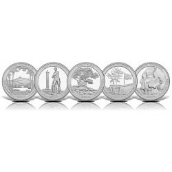 5 monedas x ESTADOS UNIDOS 25 CENTAVOS 2013 Letra S PARQUES NACIONALES NICKEL SC USA 25 Cent QUARTER