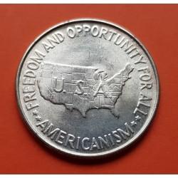 ESTADOS UNIDOS 1/2 DOLAR 1952 GEORGE CARVER & BOOKER T. WASHINGTON KM.198 MONEDA DE PLATA @LUJO@ Half Dollar commemorative USA