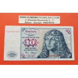 ALEMANIA 10 MARCOS 1980 ALBERT DURER CJ...G Pick 31D BILLETE CIRCULADO Germany Federal BRD NUEVO 25€