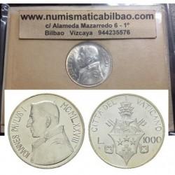 VATICANO 1000 LIRAS 1978 JUAN PABLO I @UNICA MONEDA FABRICADA ANTES DE SU MUERTE@ KM.142 MONEDA DE PLATA SC Silver Coin Set