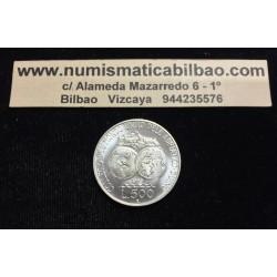 ITALIA 500 LIRAS 1985 COLEGIO MUNDO UNIDO GLOBOS TERRAQUEOS KM.116 MONEDA DE PLATA SC Italy Lires Silver