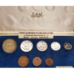 SUDAFRICA ESTUCHE OFICIAL 1976 SILVER PROOF SET MINT BOX Suid South Afrika 1/2+1+2+5+10+20+50 Cents y 1 Rand