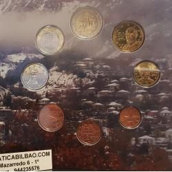 GRECIA CARTERA OFICIAL EUROS 2015 SC 1+2+5+10+20+50 CENTIMOS + 1 EURO + 2 EUROS 2015 ZEUS y EUROPA BU SET KMS