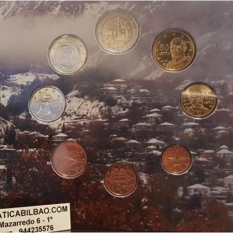 GRECIA CARTERA OFICIAL EUROS 2002 BU SET KMS GREECE