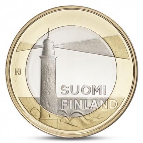 FINLANDIA 5 EUROS 2013 Provincia de ALAND - FARO moneda nº 17 SC MONEDA BIMETALICA Finnland