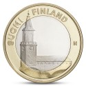 FINLANDIA 5 EUROS 2013 Provincia de TURUN - IGLESIA moneda nº 18 SC MONEDA BIMETALICA Finnland