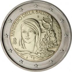 ITALIA 2 EUROS 2018 MINISTERIO DE LA SALUD PUBLICA SC MONEDA CONMEMORATIVA Italy