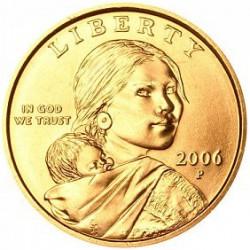 ESTADOS UNIDOS 1 DOLAR 2006 P INDIA SACAGAWEA KM.310 MONEDA DE LATON SC USA $1 Dollar coin