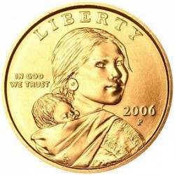 USA 1 DOLLAR SACAGAWEA 2006 P UNC BRASS