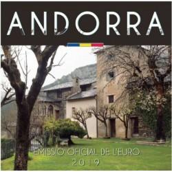 ANDORRA CARTERA OFICIAL EUROS 2019 SET 1+2+5+10+20+50 Centimos + 1 EURO + 2 EUROS 2019 SC 8 MONEDAS