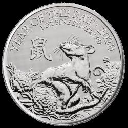 . .2 LIBRAS 2016 INGLATERRA AÑO LUNAR DEL MONO PLATA Silver Oz