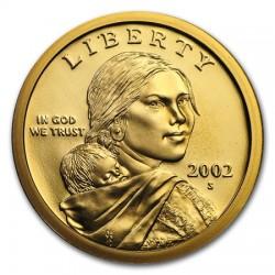 ESTADOS UNIDOS 1 DOLAR 2002 S INDIA SACAGAWEA KM.310 MONEDA DE LATON PROOF US $1 Dollar from teh Mint Set